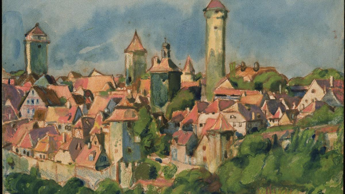 Martin Monnickendam, Sonderausstellung, Kunst, RothenburgMuseum, Ausstellung, Stadtansicht