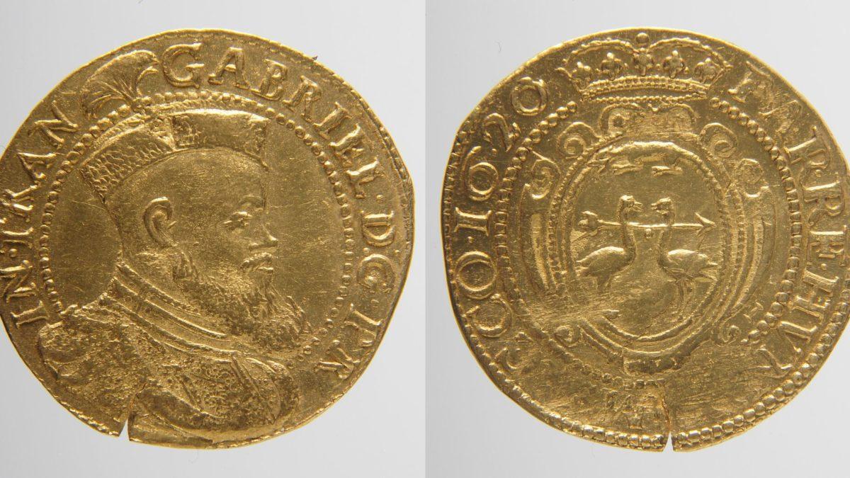 Rothenburger Goldmünzfund: Bildnis des ungarischen Protektors Gabriel Bethlen in Transsilvanien, 1620 im RothenburgMuseum