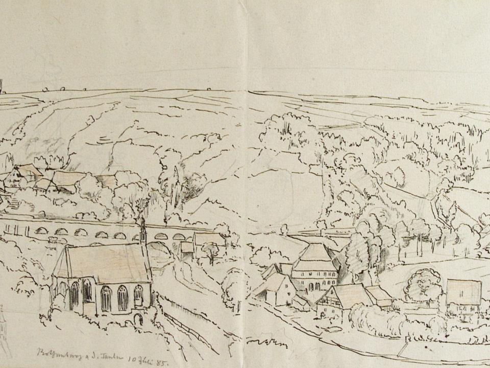 Hans Thoma, Skizze, Skizzenblock, Gemäldegalerie, Ausstellung, RothenburgMuseum, Museum Rothenburg