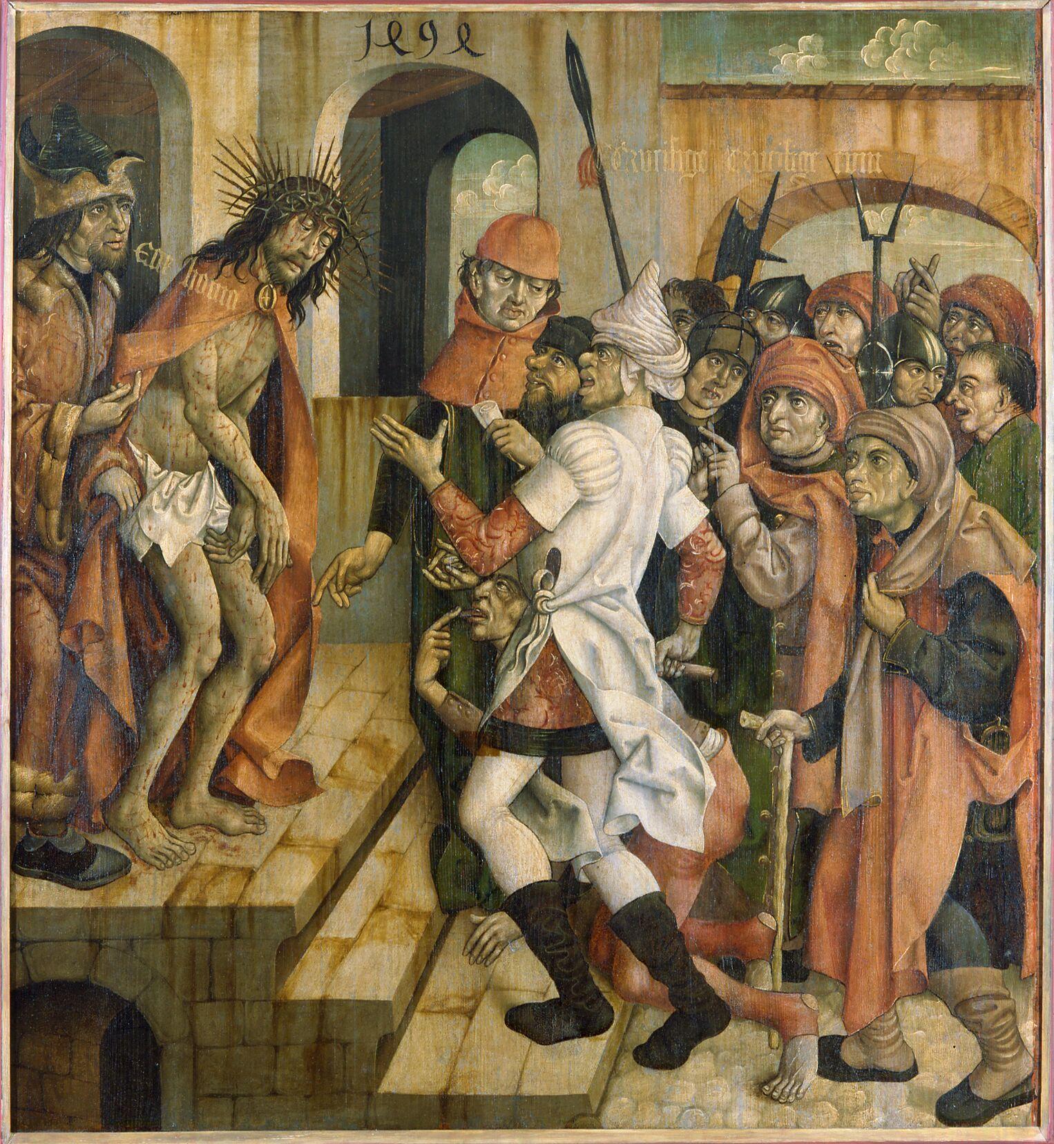 Eines der Gemälde der Rothenburger Passion